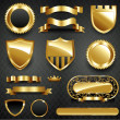 Decorative ornate gold frame collection — Stock Photo