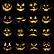 Jack o lantern pumpkin faces — Stock Photo #12108589