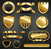 Decorative ornate gold frame collection — 图库照片