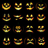 Jack o lantern pumpkin faces — Photo