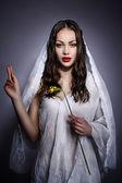 Fashion model portraits looks like Virgin Mary or Maria Magdalena — Stock Photo
