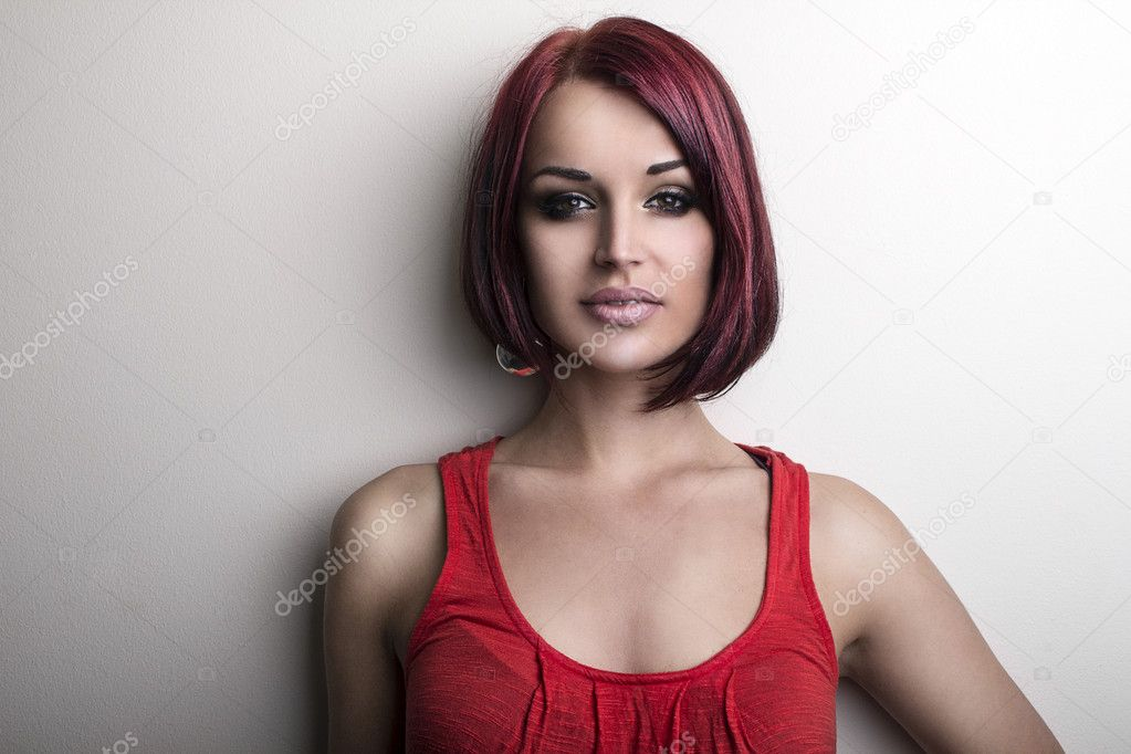 Red Hair. Fashion Girl Portrait. — Stock Photo #11990233
