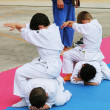 Judo exhibition — Stock Photo