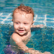 Little boy in the pool — Stock Photo #10773867