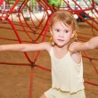 The girl on the playground — Stock Photo