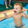 Little boy in the pool — Stock Photo
