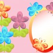 Royalty-Free Stock Vector Image: Vector Illustration: stylized flowers and butterflies