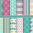 Vector set of scrapbook paper — Stock Photo #12026270