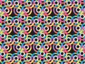 Abstract vector illustration d'une chaîne d'ovales — Vecteur