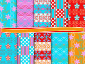 Abstract vector set of scrapbook paper — Stock Vector