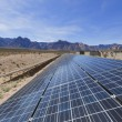 Stock Photo: Solar panels in Mojave Desert.