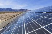 Solar panels in the Mojave Desert. — Stock Photo