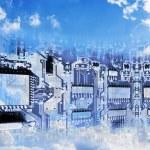 immagine concettuale del cloud computing — Foto Stock