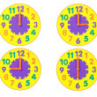 Toy Clocks — Stockfoto