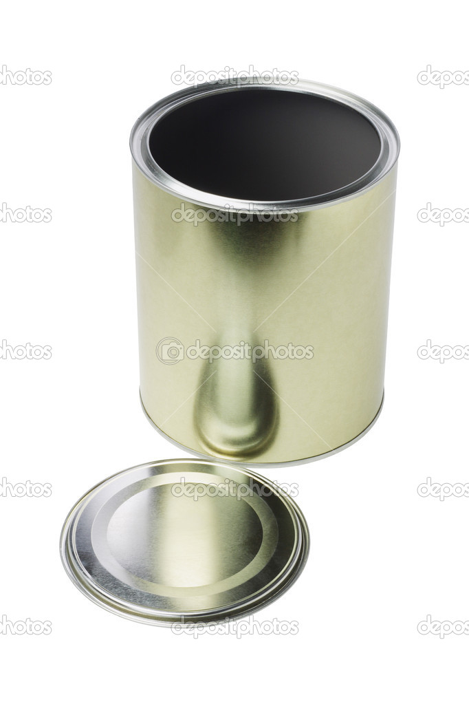 Open Empty Tin Can on White Background — Stock Photo #11475371