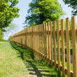 Stock Photo: Woody fence in park