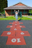 çocuk oyun alanı üzerinde — Stok fotoğraf