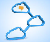 Computer cloud design — Stock Photo