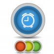 Vector alarm clock icon on white. Eps10 — Stockvectorbeeld