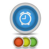 Vector alarm clock icon on white. Eps10 — Stock Vector