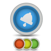 Icono de campana vector en blanco. eps10 — Vector de stock