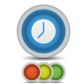 Vector clock icon on white. Eps10 — Vetorial Stock