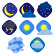 Vector weather set on white. Eps10 — Stock Vector