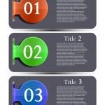 Vector website design elements set. Eps 10 — Stock Vector