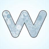 Векторные рождественские буква W на синем фоне. Eps 10 — Cтоковый вектор