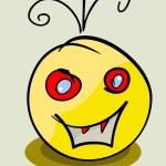 Vector yellow face monster. Eps 8 illustration — Stock Vector