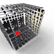 Cube decomposed — Stock Photo