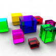 Crystal boxes — Stock Photo