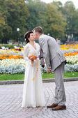 Autumnal wedding — Stock Photo
