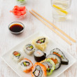 Japanese food on the plate — Stock Photo