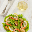 Royalty-Free Stock Photo: Salad with shrimps and mussels on the plate