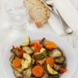 Vegetables on the white plate — Stock Photo