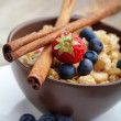Breakfast muesli — Stock Photo