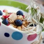 Yogurt with blueberries — Stock Photo #12000416