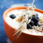 Yogurt with blueberries — Stock Photo #12000460