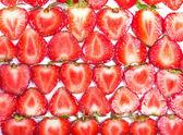 Sfondo di fettine di fragola — Foto Stock