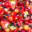 Stock Photo: Close up image of berries, fruit background