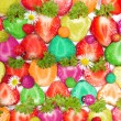 Colorful Sliced Strawberries, abstract background — Stock Photo