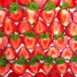 Fresh strawberry slices background — Stok fotoğraf