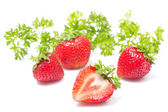Fresh strawberry on a white background — Stock Photo