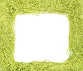 Frame made from green strings — Stock Photo