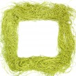 Green frame made from strings — Stock Photo