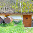 Royalty-Free Stock Photo: Old rural tavern with wooden barrels