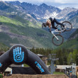 Slopestyle bike - Stock Photo