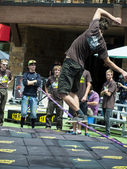 Slacklining — Stock Photo