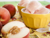 Peach Gelato — Stock Photo